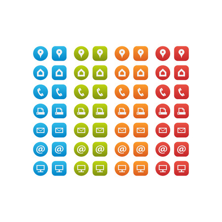 Illustration pour Multipurpose Business Card Icon Set of web icons for business, finance and communication - image libre de droit