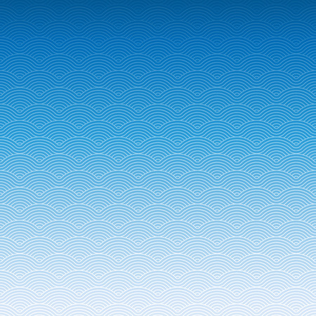 Photo for Colorful geometric repetitive vector curvy waves pattern texture background vector graphic illustration - Royalty Free Image