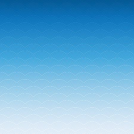 Foto de Colorful geometric repetitive vector curvy waves pattern texture background vector graphic illustration - Imagen libre de derechos