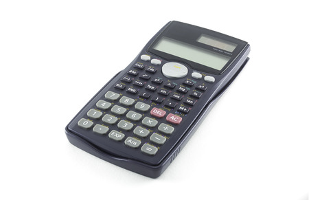 Foto de Scientific Calculator with Solar Power isolated on white - Imagen libre de derechos