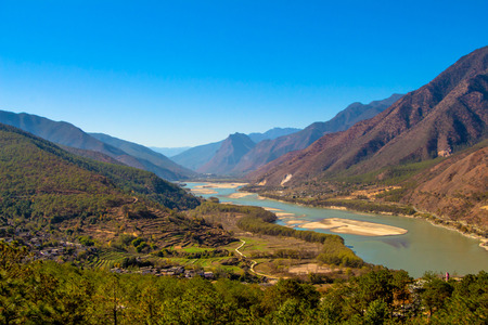 Photo for first curve yangtze river - Royalty Free Image