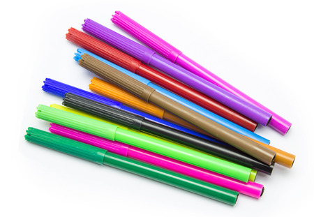 Photo for Colorful markers pens Multicolored Felt Pens draw line - Royalty Free Image