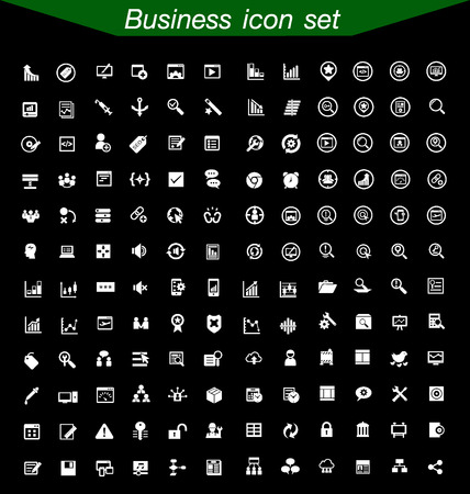 Illustration for Business icons Set - Royalty Free Image