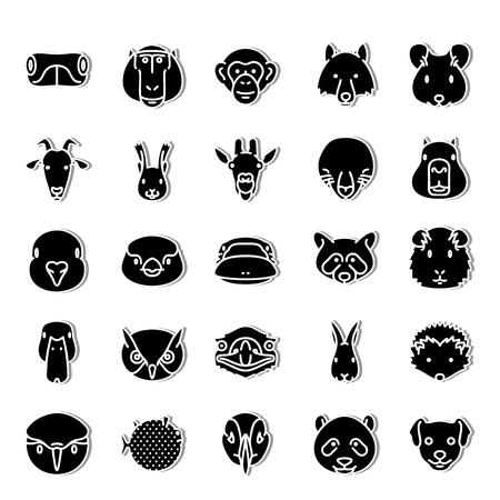 Fauna icon set