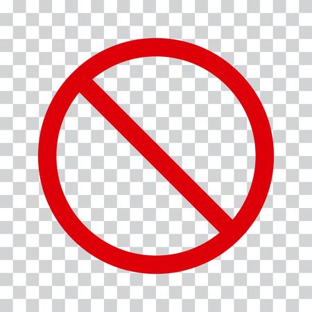 Ilustración de Red stop icon on transparent background. No symbol Vector illustration - Imagen libre de derechos