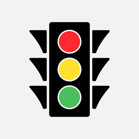 Illustration pour Colored traffic light icon vector illustration. - image libre de droit