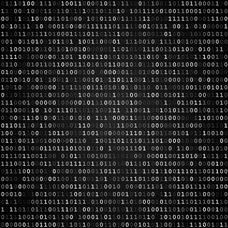 Illustration pour Twinkle binary code screen listing table on black background - image libre de droit