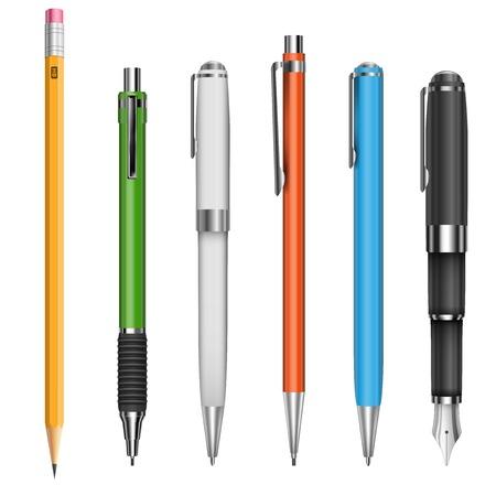 Illustration pour Pens and pencils - image libre de droit