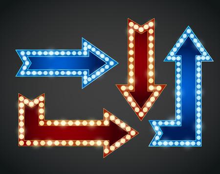 Illustration pour Arrows  bulb illustration - image libre de droit