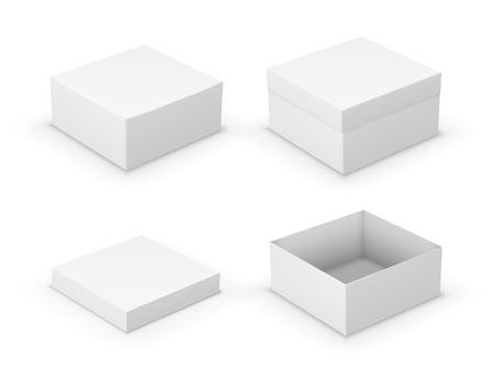 Illustrazione per Open boxes - Immagini Royalty Free