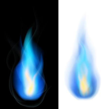 Illustration pour Blue fire - image libre de droit