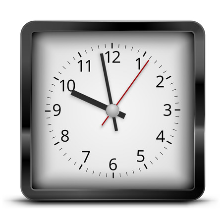 Illustration pour Square clock - image libre de droit