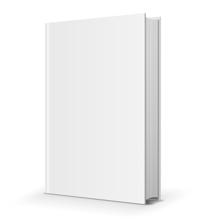Illustration for Blank book cover. Vector illustration over white background - Royalty Free Image