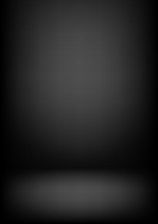 Illustration pour Clear studio dark vector black background for product presentation - image libre de droit