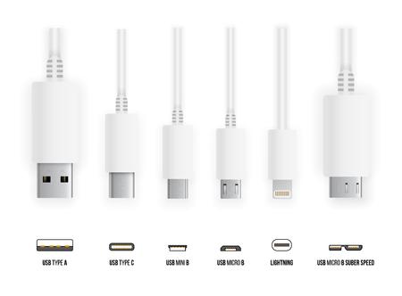 Illustrazione per USB all type - Immagini Royalty Free