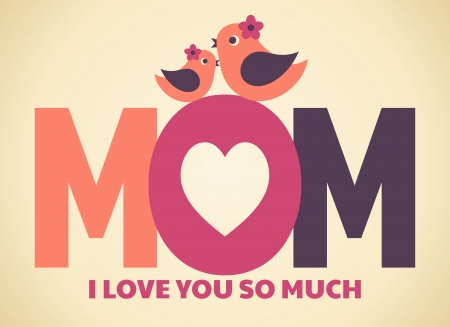 Greeting card design for Mother s Day