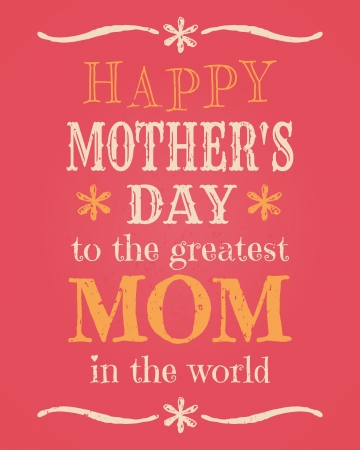 Greeting card template for Mother s Day