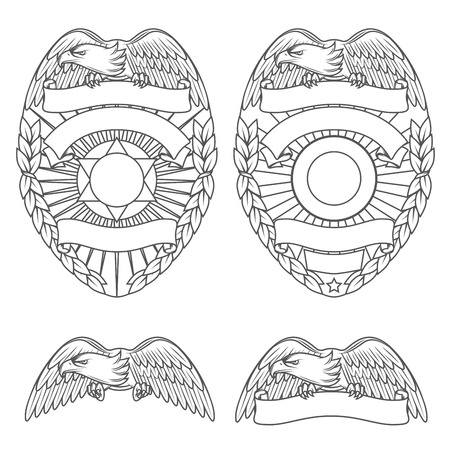 Illustration for Police department badges and design elements - Royalty Free Image