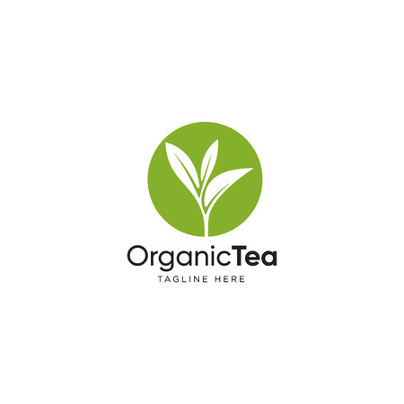 Ilustración de Leaf logo design inspiration, Tea leaf vector isolated on white background - Imagen libre de derechos