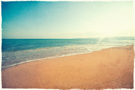 Photo for Vintage beach background - Royalty Free Image