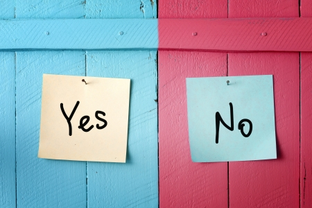 Photo for Yes or no decision - Royalty Free Image