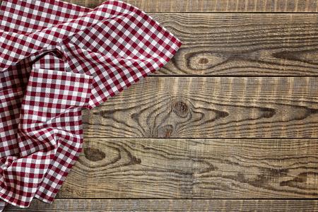 Foto de Empty wooden table with tablecloth - Imagen libre de derechos
