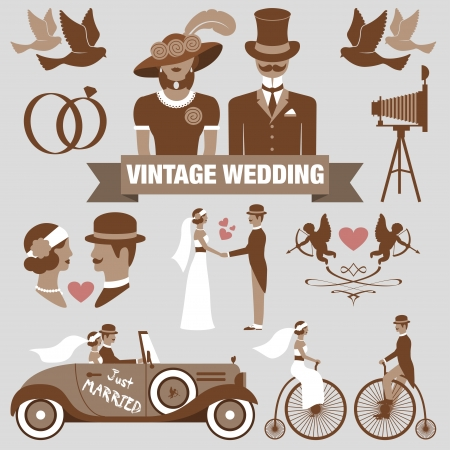 Photo for vintage wedding set - Royalty Free Image