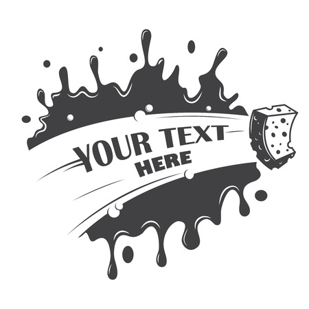 Illustration pour blot cleaning sponge with a place for your text - image libre de droit