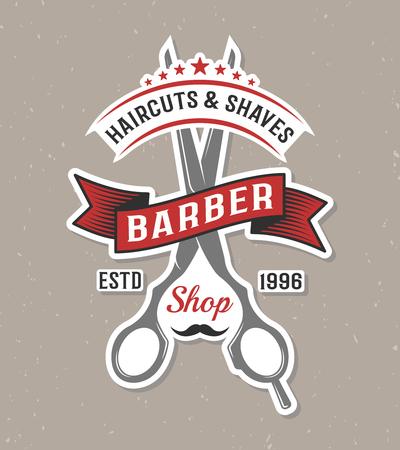 Illustration pour Barber Shop Logo Template - image libre de droit