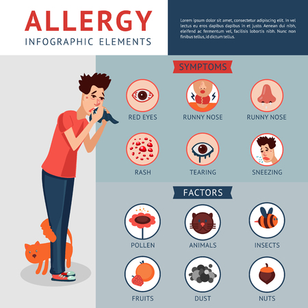 Illustration for Allergy Infographic Concept - Royalty Free Image