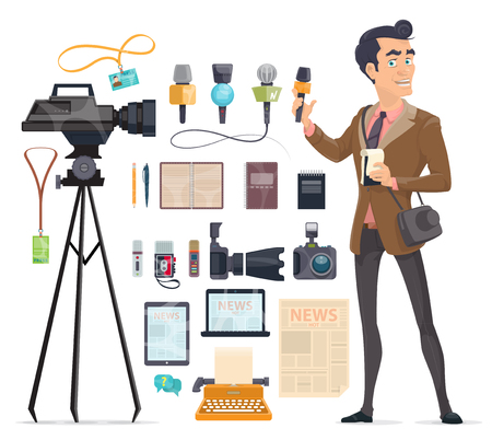 Illustration pour Journalism Elements Set - image libre de droit