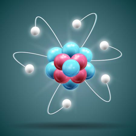 Illustration pour Science Atom Illustration - image libre de droit