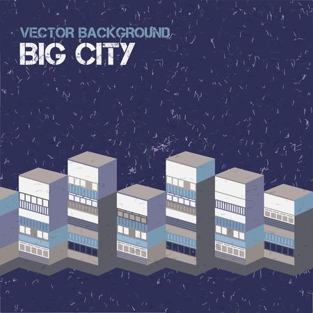 Ilustración de Big City Background - Imagen libre de derechos