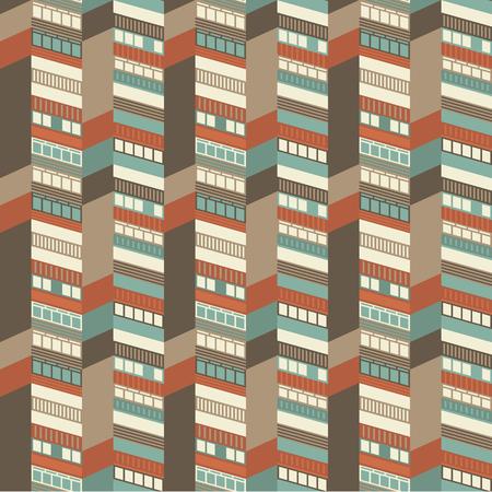Ilustración de Architectural Seamless Pattern - Imagen libre de derechos