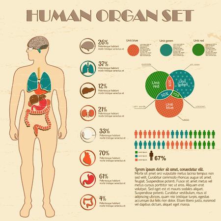 Ilustración de Medical infographic set - Imagen libre de derechos