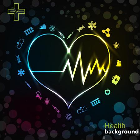 Illustration pour Medicine Black Golden Background - image libre de droit
