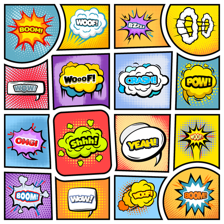 Illustration pour Colorful Comic Book Background - image libre de droit