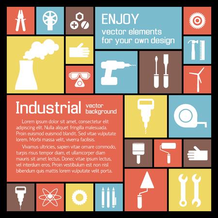 Illustration pour Industrial Tools Background - image libre de droit