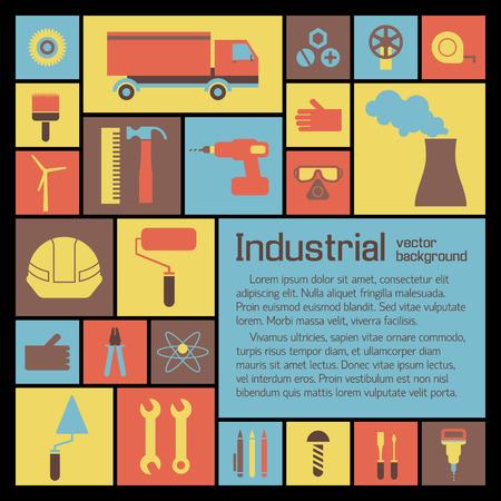 Illustration pour Industrial Icons Set. - image libre de droit