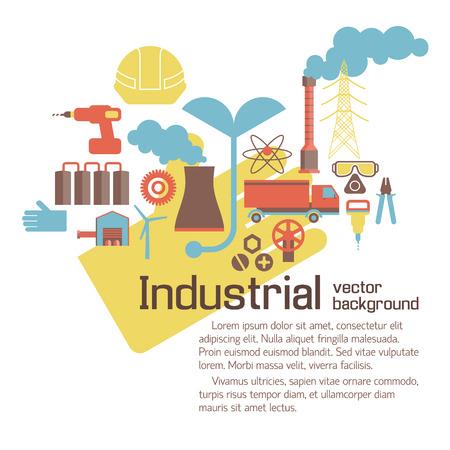 Illustration pour Industrial Environmental Template - image libre de droit