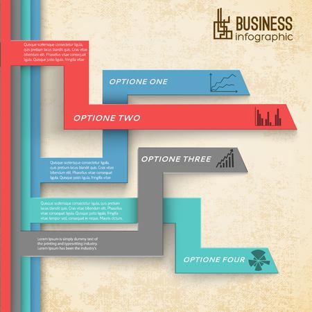Ilustración de Business Infographic Modern Background - Imagen libre de derechos