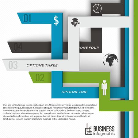Ilustración de Modern Business Infographics Concept - Imagen libre de derechos
