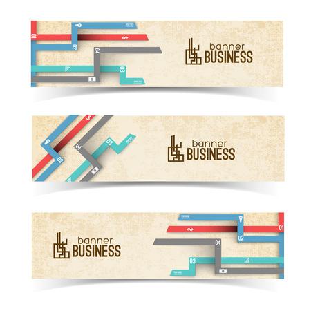 Ilustración de Business Banners With Colorful Tabs - Imagen libre de derechos