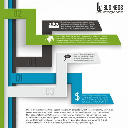 Ilustración de Business Infographics Template - Imagen libre de derechos