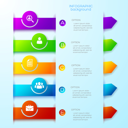 Illustration pour Light Business Infographic Template - image libre de droit