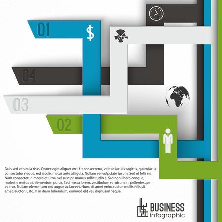Ilustración de Numbered Tabs Business Infographics - Imagen libre de derechos