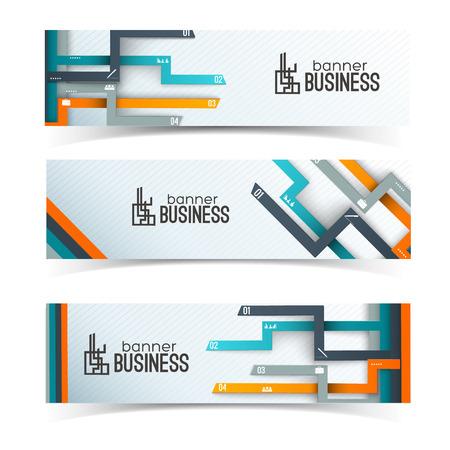 Ilustración de Business Banners With Infographic Elements - Imagen libre de derechos