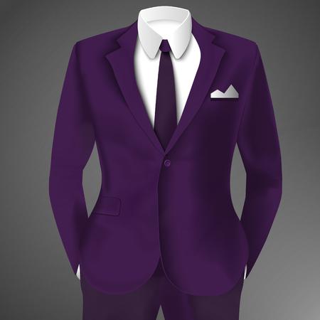 Illustration pour Purple Business Suit Template - image libre de droit