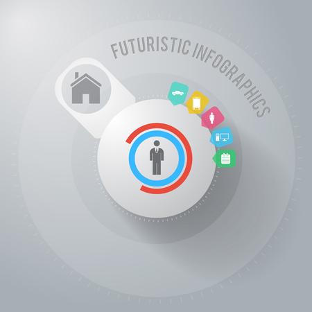 Illustration pour Business Infographic Concept. - image libre de droit