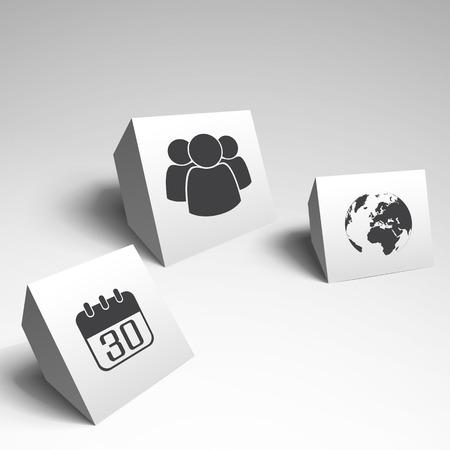 Ilustración de Three Modern Design - Imagen libre de derechos